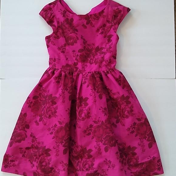 Baker pink red floral full dress size 8